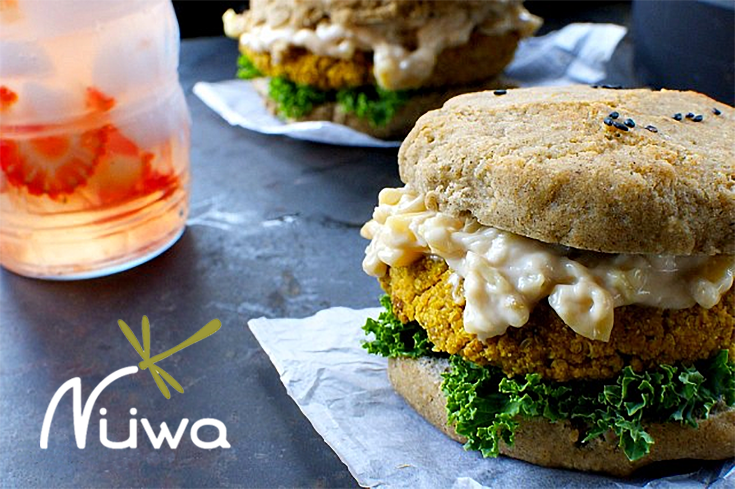 Hamburguesa de quinoa con curry